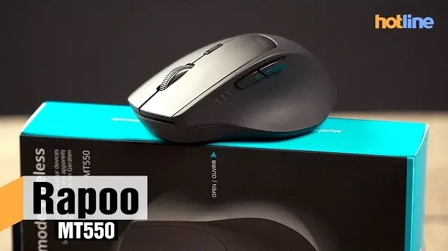 Видеобзор беспроводной мыши Rapoo MT550