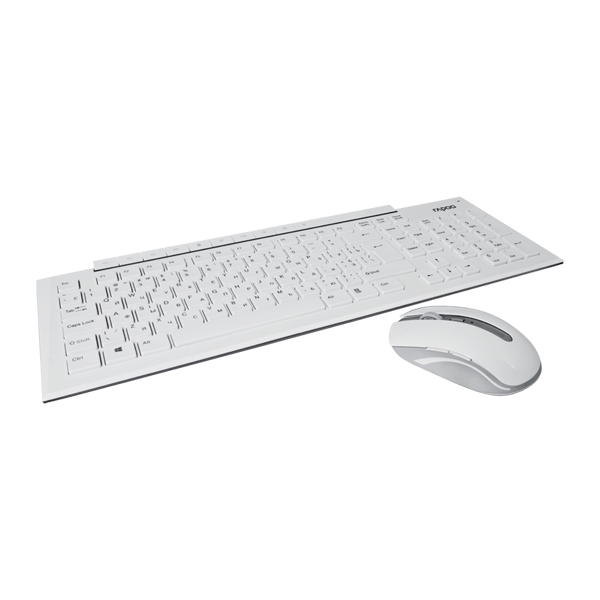 Rapoo 8200p Wireless Optical Mouse & Keyboard White